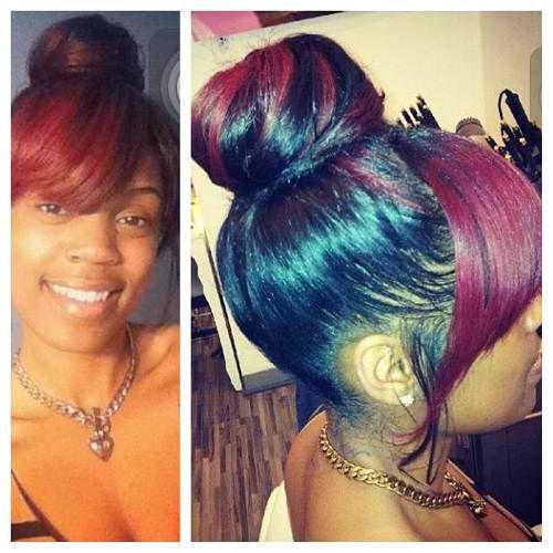African American Hair Bun African American Bun Updo Styles For