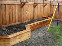Raised Garden Beds Against Fence : Raised Planter Boxes ...