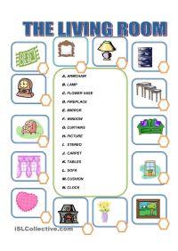 Furniture in the Living Room | Kindergarten | Pinterest ...