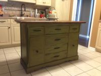 Repurposed antique buffet made into kitchen island. | For ...