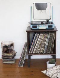 Record Player Stand on Pinterest | Vinyl Record Storage ...