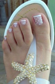 #frenchtips #white #dots nails