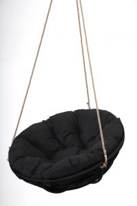 Black Framed Hanging Papasan With Rope Papsan Chair