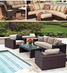 Synthetic Wicker Outdoor Furniture Patio