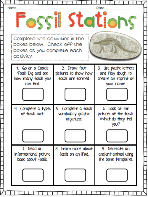 small resolution of Student Science Worksheet On Fossils   Printable Worksheets and Activities  for Teachers