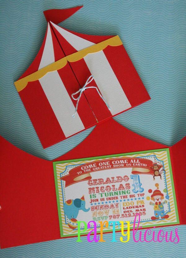 Circus Invitations Carnival Birthday And
