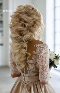 60 Perfect Long Wedding Hairstyles with Glam | Curly ...