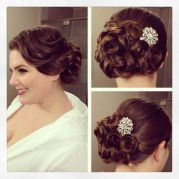 vintage side updo hairstyle