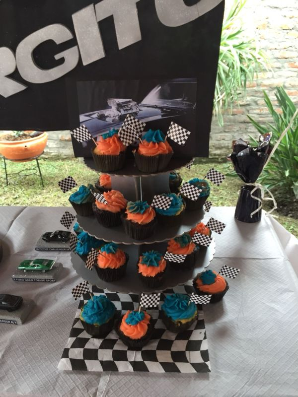 Cup Cakes Fast And Furious Party Theme