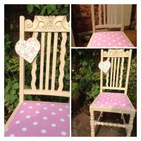 Upcycled chair painted in Annie Sloan chalk paint and