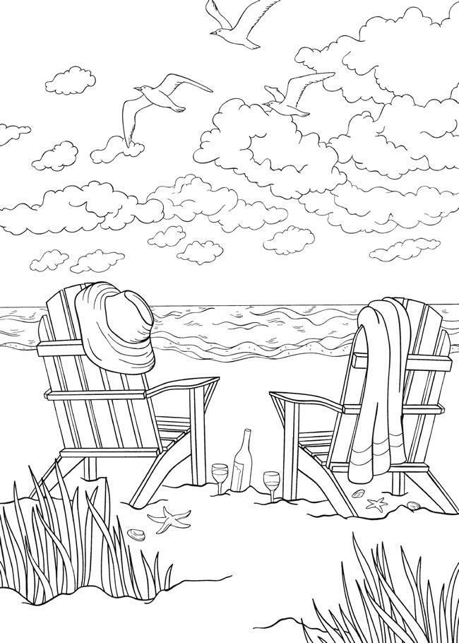 bliss SEASHORE Coloring Book: Your Passport to Calm By