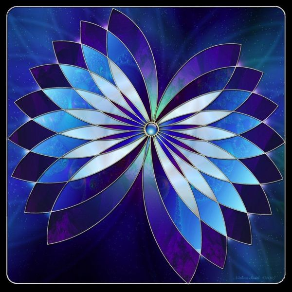 Blue Stained Glass Fractal #opieurocentrale #eursoeuro Mosaics And