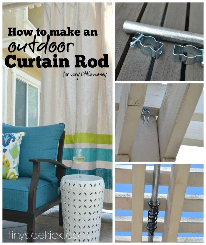 How To Make An Outdoor Curtain Rod For Very Little Money Curtain