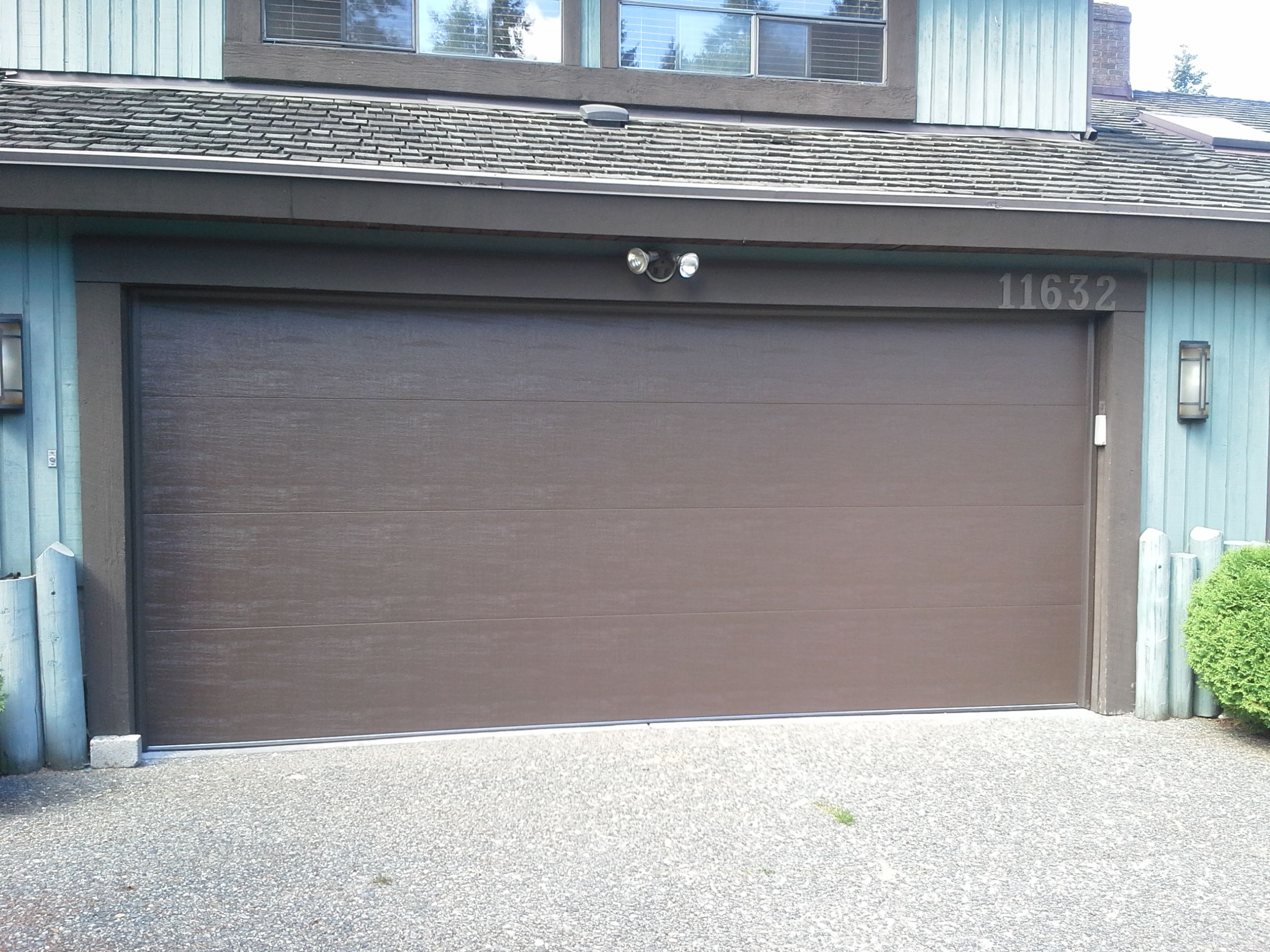 This Clopay Classic Premium Garage Door in a Flush Panel