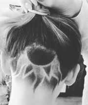 sun flower undercut. stuff
