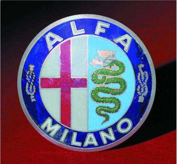 Logo Alfa Romeo 1912 - 1915-milano Italy. Hood Emblems