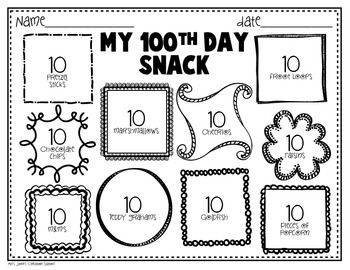 100TH DAY OF SCHOOL FREEBIE {PRINTABLES