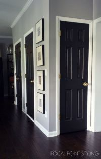 FOCAL POINT STYLING: Painting Interior Doors Black ...