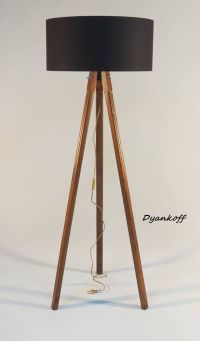 Handmade Tripod Floor lamp with wooden stand and by ...