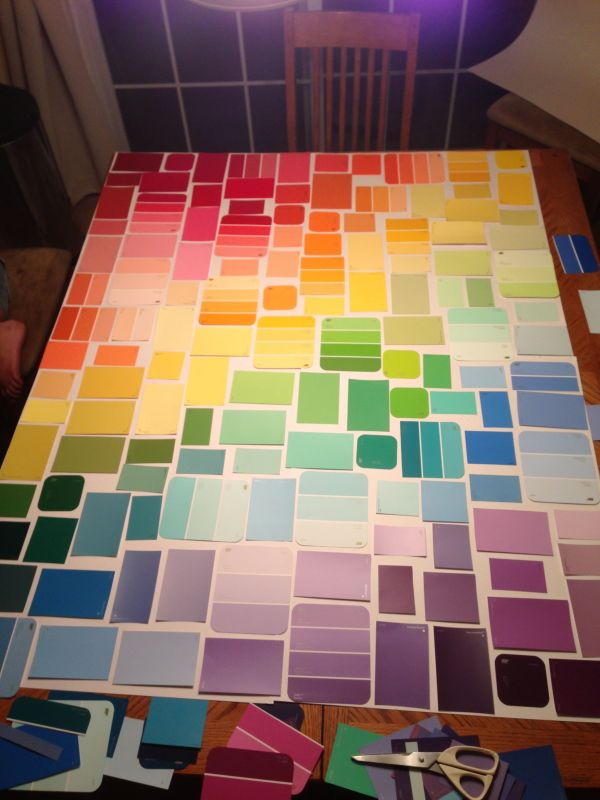 Paint Samples as Wall Art