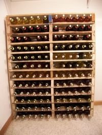 DIY Pallet wine rack....I am building this ASAP!!!! But I ...