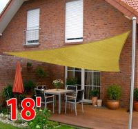 Outsunny 18' Triangle Patio Pool Sun Shade Sail Canopy ...