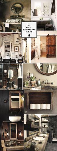 Rustic Bathroom Decor on Pinterest | Vessel Sink Bathroom ...