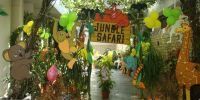 Jungle Decoration Ideas | jungle theme party entrance ...