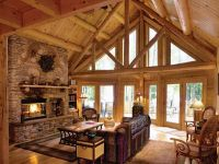 Cabin Interior Living Room Design: The Ideas Log Cabin ...