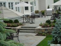 Raised Concrete Patio Design Ideas | Raised patio with ...