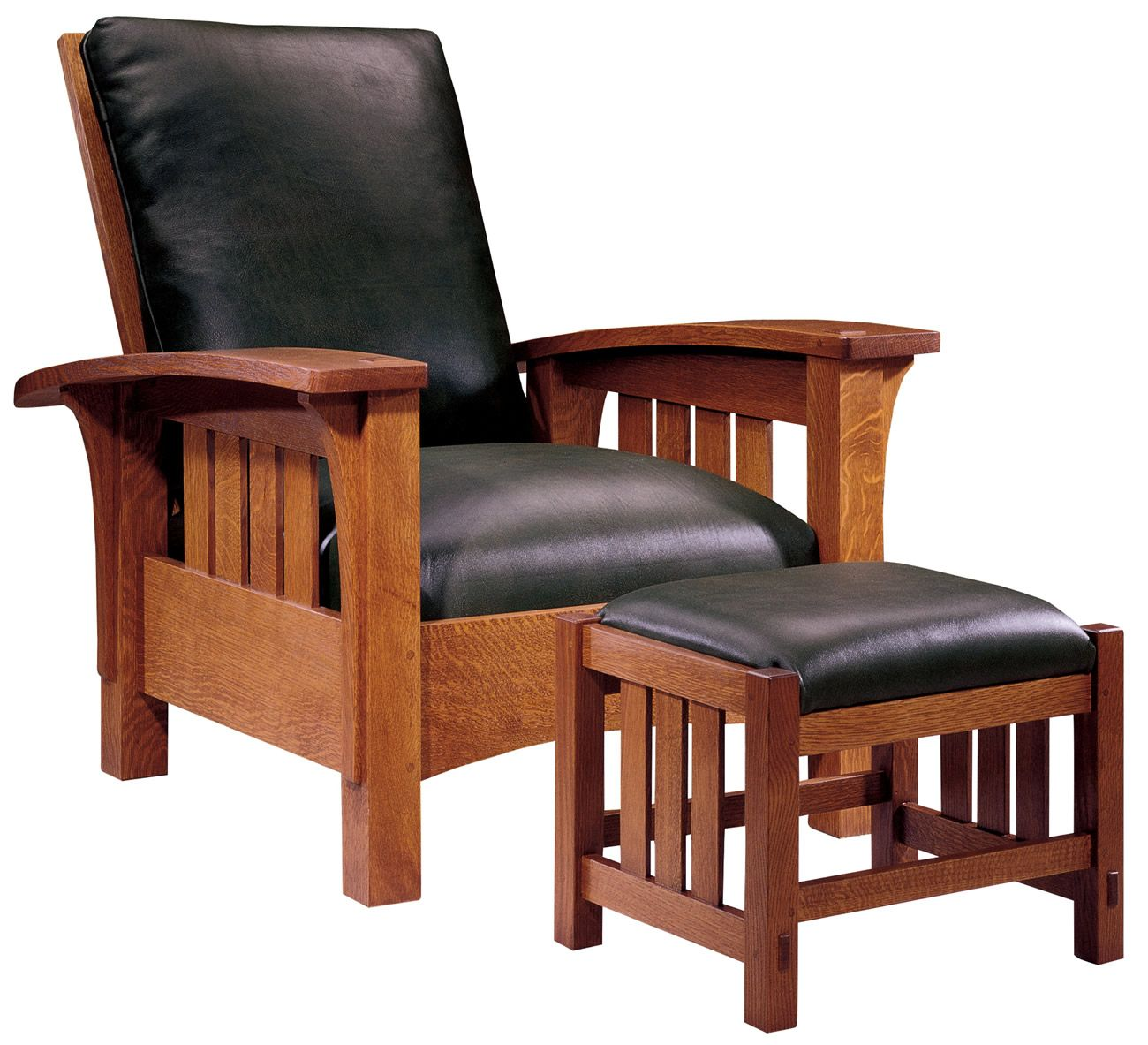 Stickley Furniture Classic Bow Arm Morris Chair  Ottoman