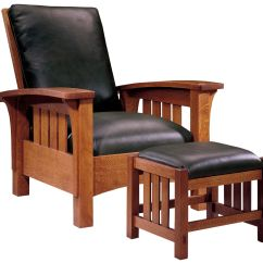 Mission Recliner Chair Plans Wine Barrel Adirondack Chairs Stickley Furniture Classic Bow Arm Morris And Ottoman