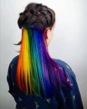 rainbow colour hair