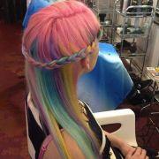 pastel rainbow hair ideas