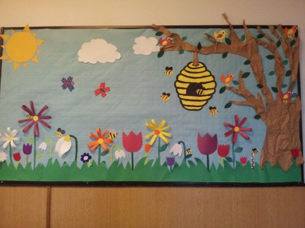 Spring Bulletin Board Love Bee Hive. Bees