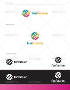 Fun fussion logo design let also letter logos and vector rh pinterest