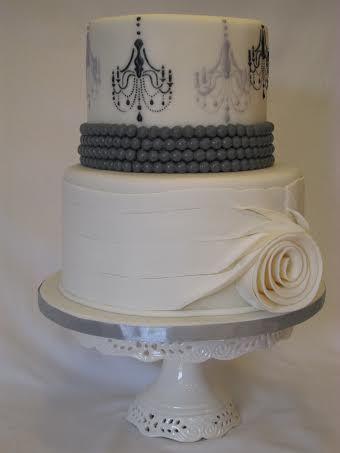 Chandelier Cake Stencil From Stenciland