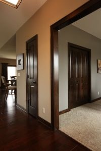 Interior Doors | dark stained poplar doors and mouldings ...