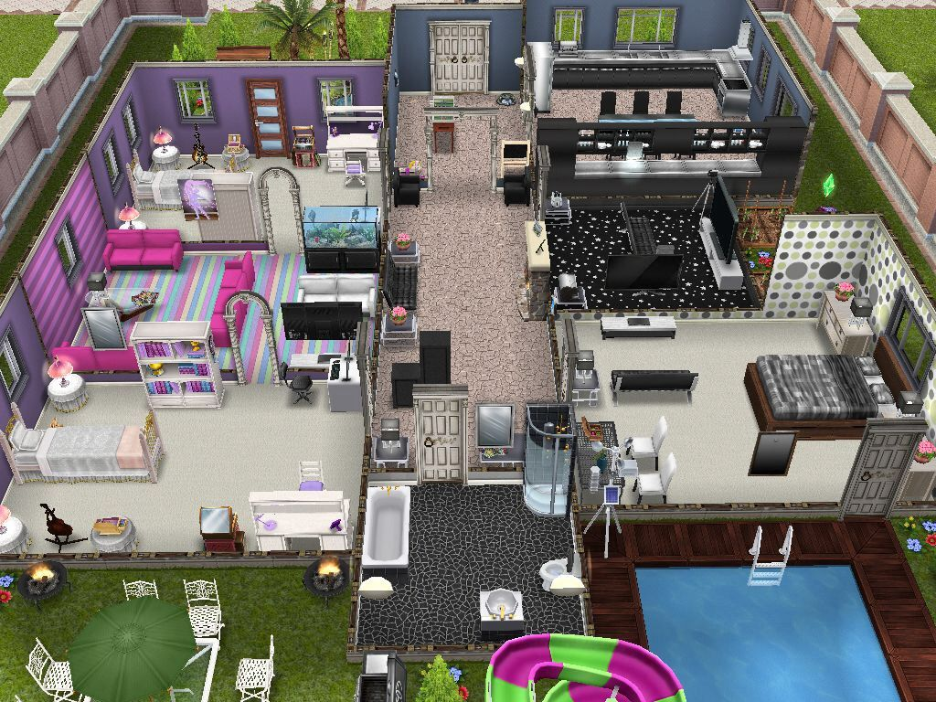 The Sims Freeplay House Design Competition Winners! House Ideas