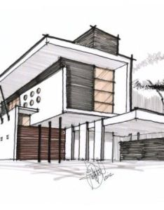 Contemporary residence architectural drawing also best images about drawings on pinterest sketching house and rh