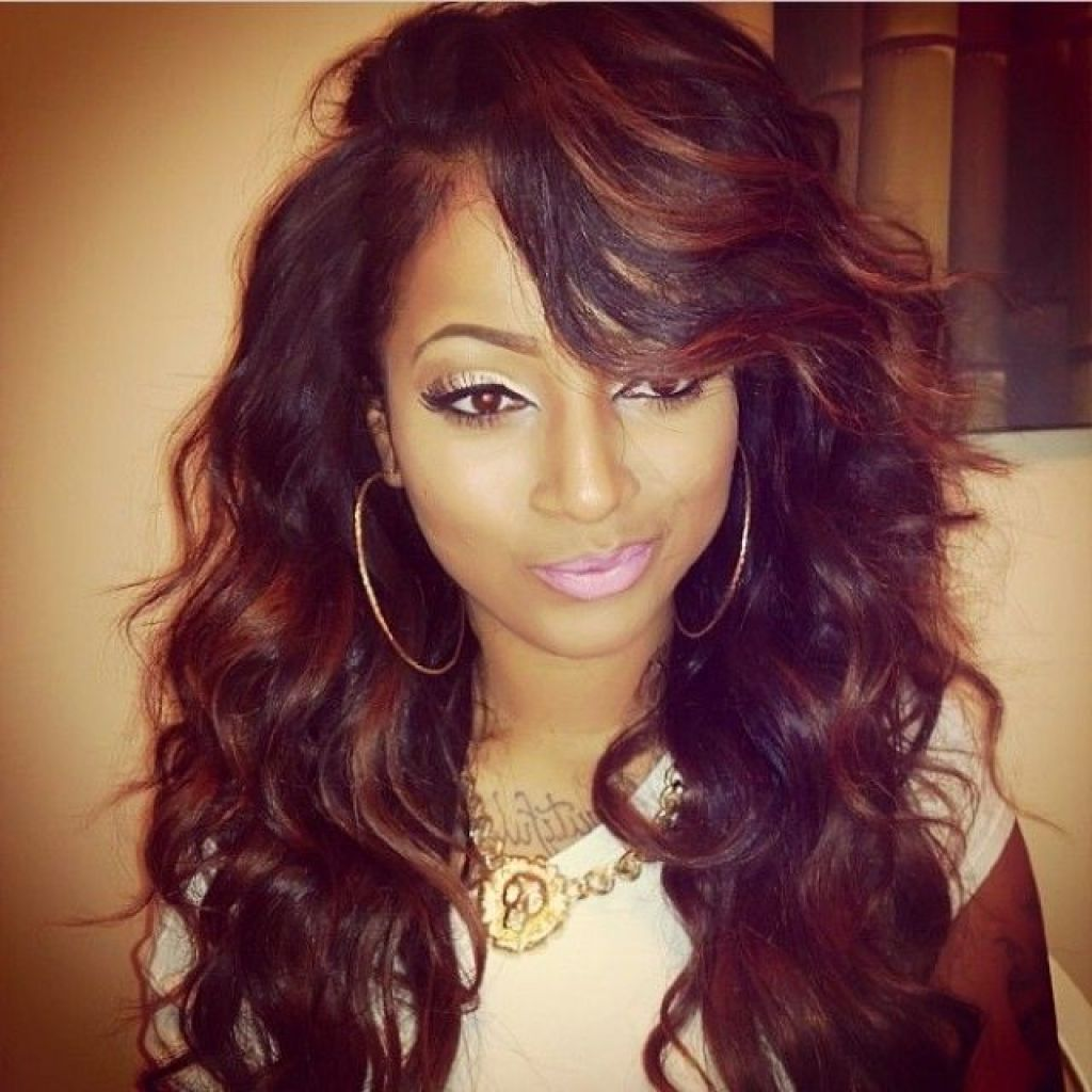 Wavy Weave Hairstyles With Side Bangs Picturesgratisylegal Hair