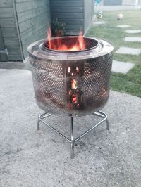 New fire pit washing machine drum and stainless steel ...