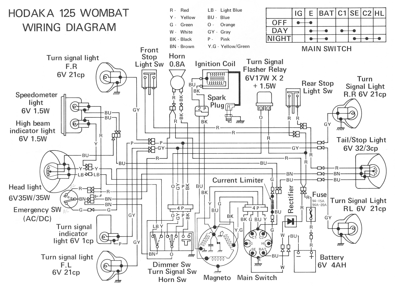 bicycle wiring diagram 7 blade dirt bike hodaka pinterest biking