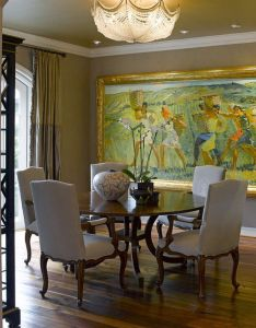 Traditional dining room by bruce kading interior design also great look art impacts the decor pinterest condos rh