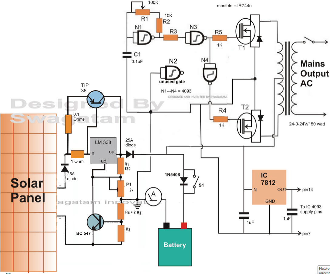 battery charge controller circuit diagram western plow solenoid wiring solar homemade