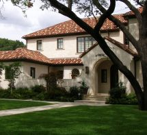 Exterior House Colors with Terracotta Colored Roof