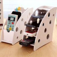 DIY wooden Desk Remote Controller Storage Box TV DVD VCR ...