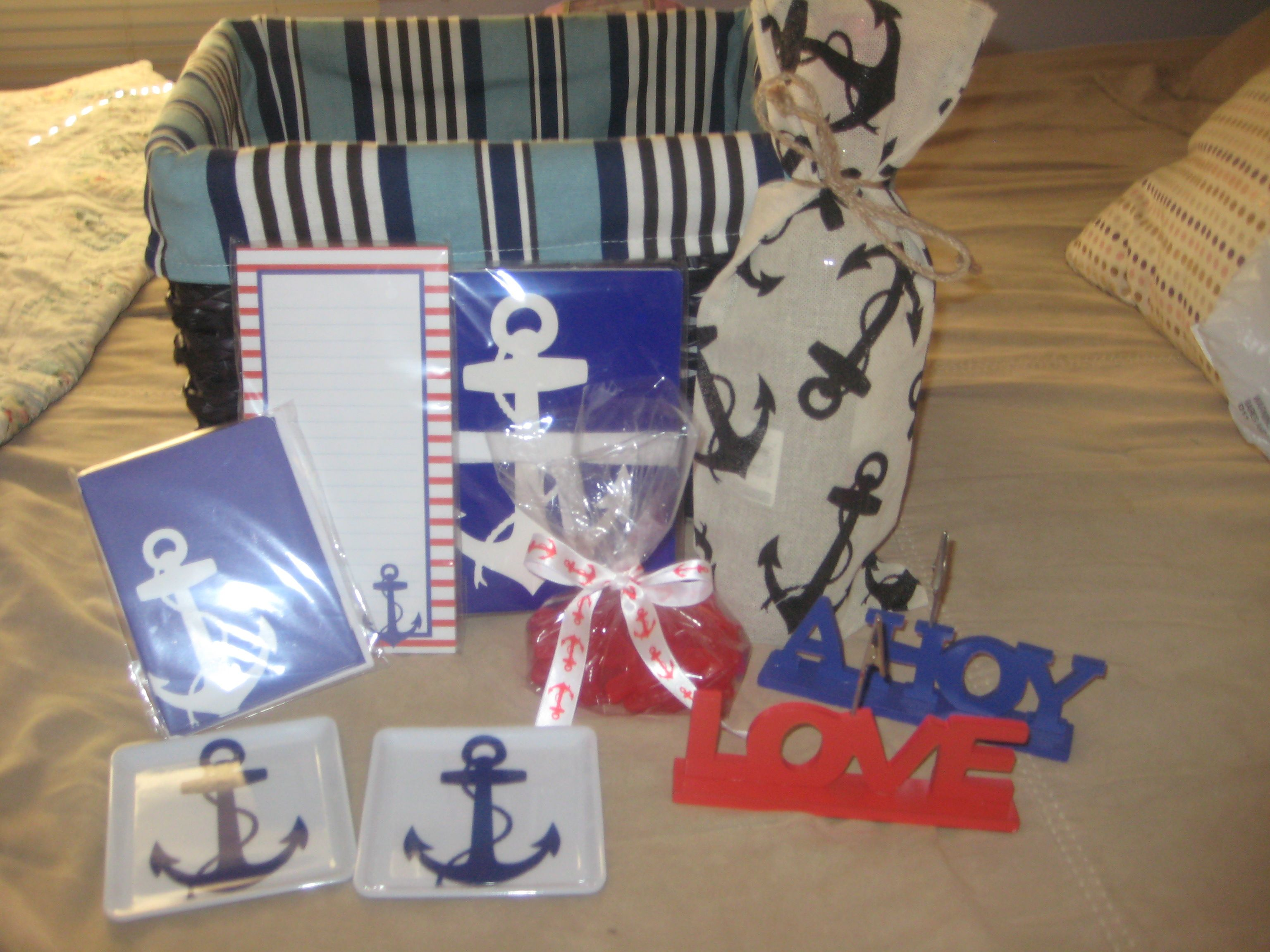 Nautical Gift Basket For Lake Themed Wedding