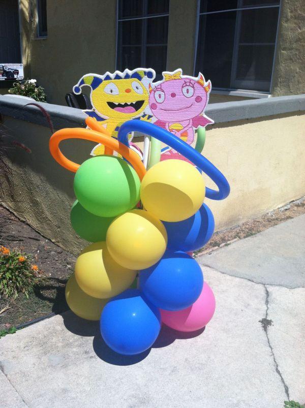 Henry Hugglemonster Balloon Column Lu Birthday'