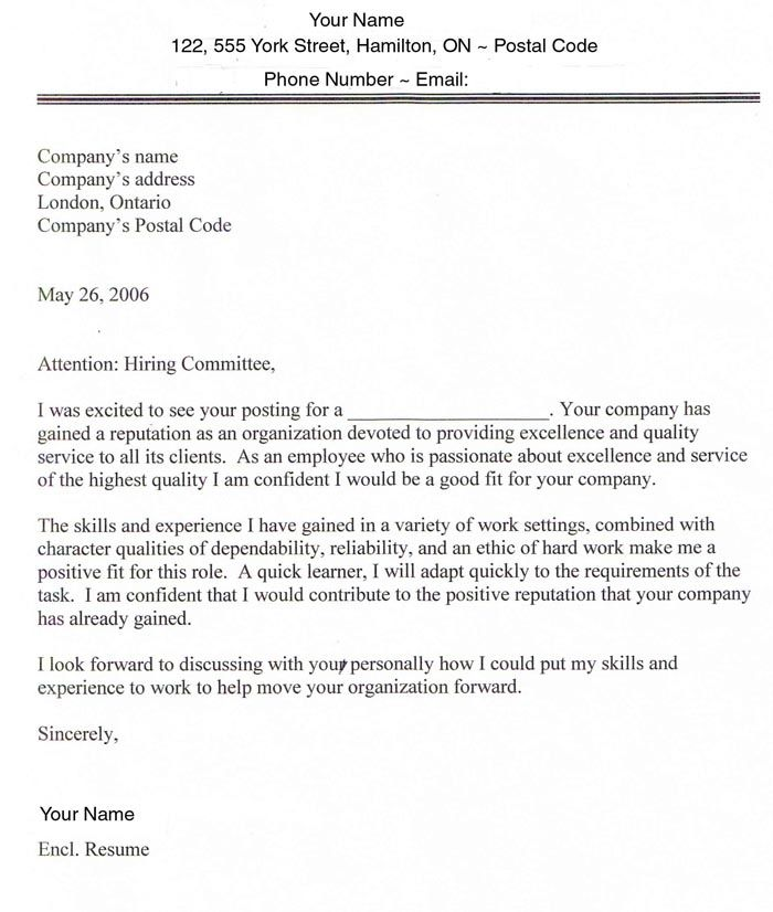 Example Of Resume Letter For Application